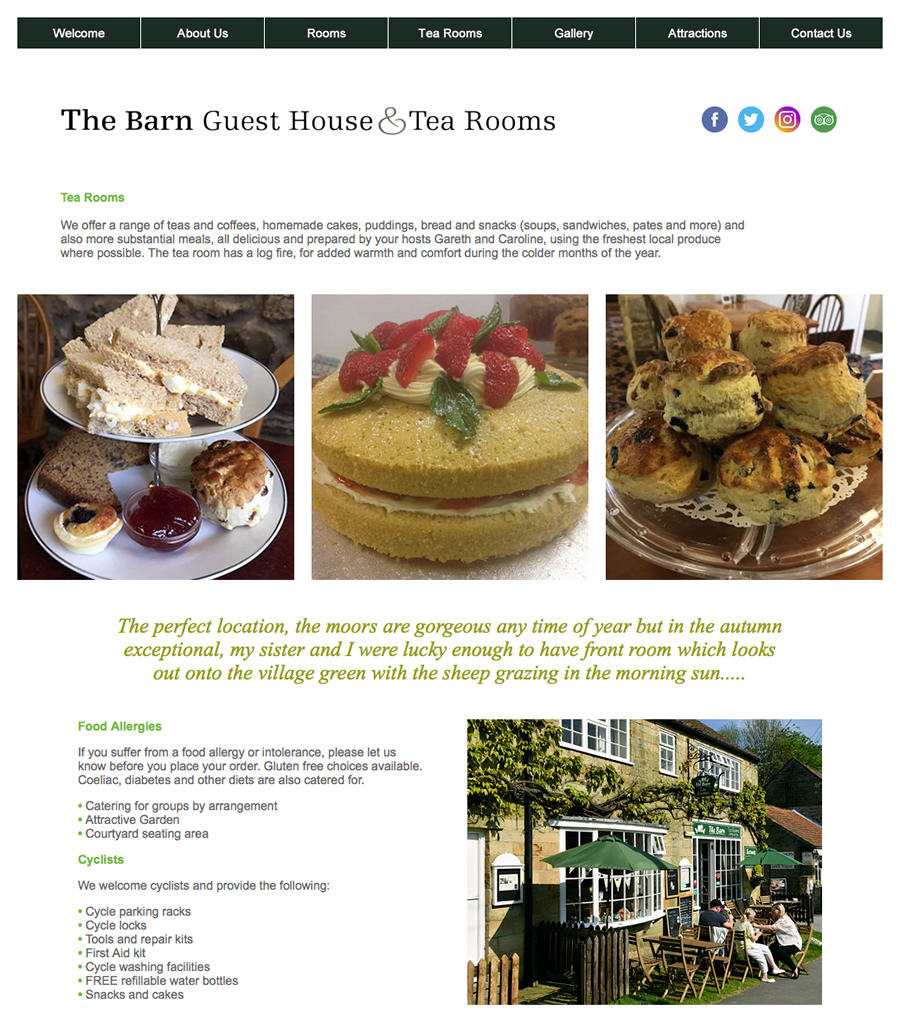 the barn tearooms page
